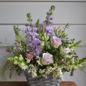 French Provincial Flower Basket -