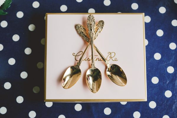 Gold Plate Teaspoons by cristina re -
