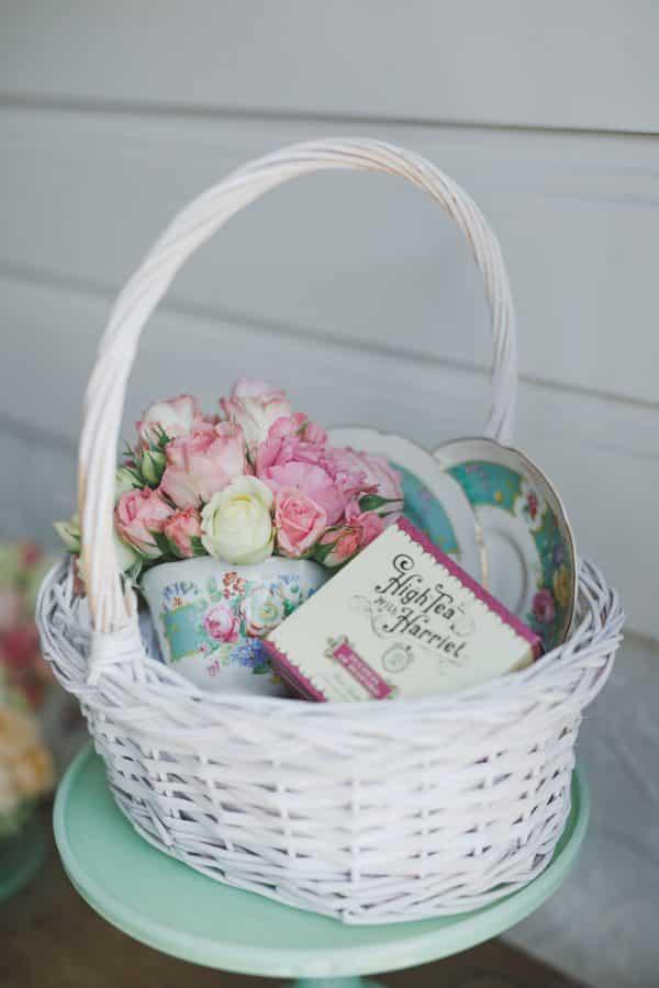 Teatime and Flowers -