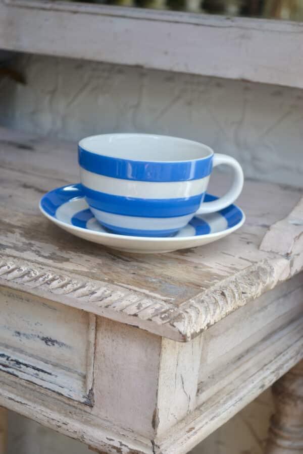 Cornishware Teacup and Saucer -